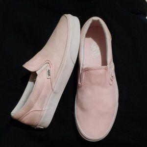 Van's Baby Pink Slip Ons